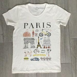 """J. Crew """"Paris"""" Collectors T-Shirt  XS"""